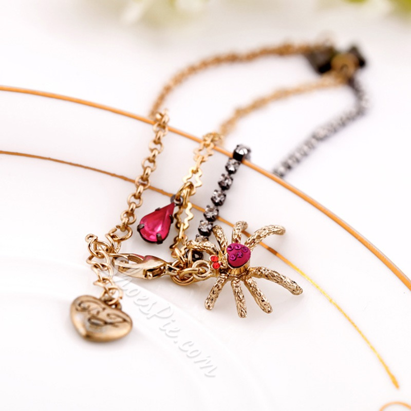 Shoespie Alloy Spider Anklet for Women