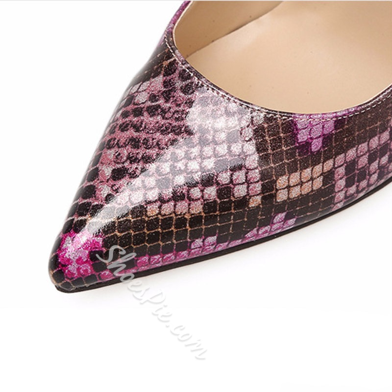 Serpentine Slip-On Stiletto Heel Pumps