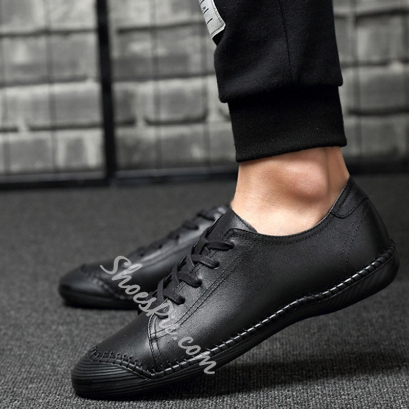 Casual Spring Sewing Lace-Up Men's Sneakers