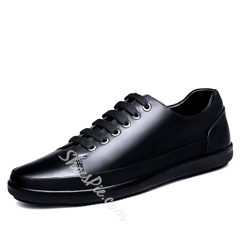Spring Lace-Up Casual Round Toe Men's Sneakers