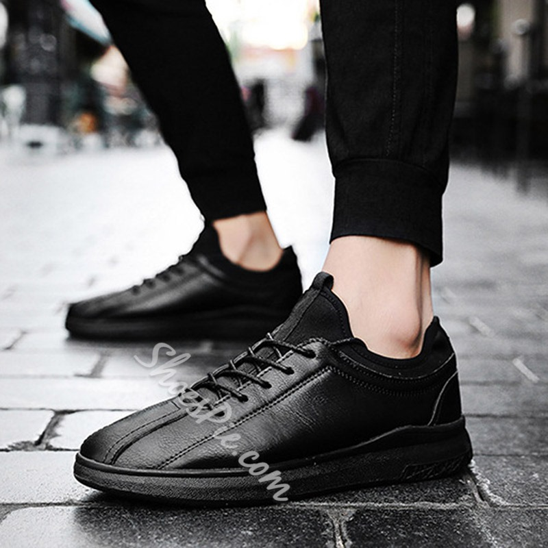 Spring Lace-Up Casual Men's Sneakers