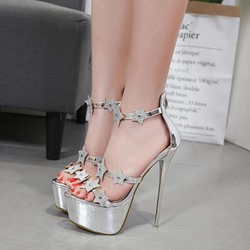 Rhinestone Platform High Stiletto Heel Sandals