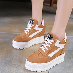 Color Block Platform Women's Casual Shoes