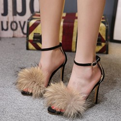 Open Toe Line-Style Buckle Dress Sandals