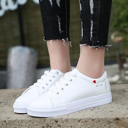Plain Letter Lace-Up Women's Shoes