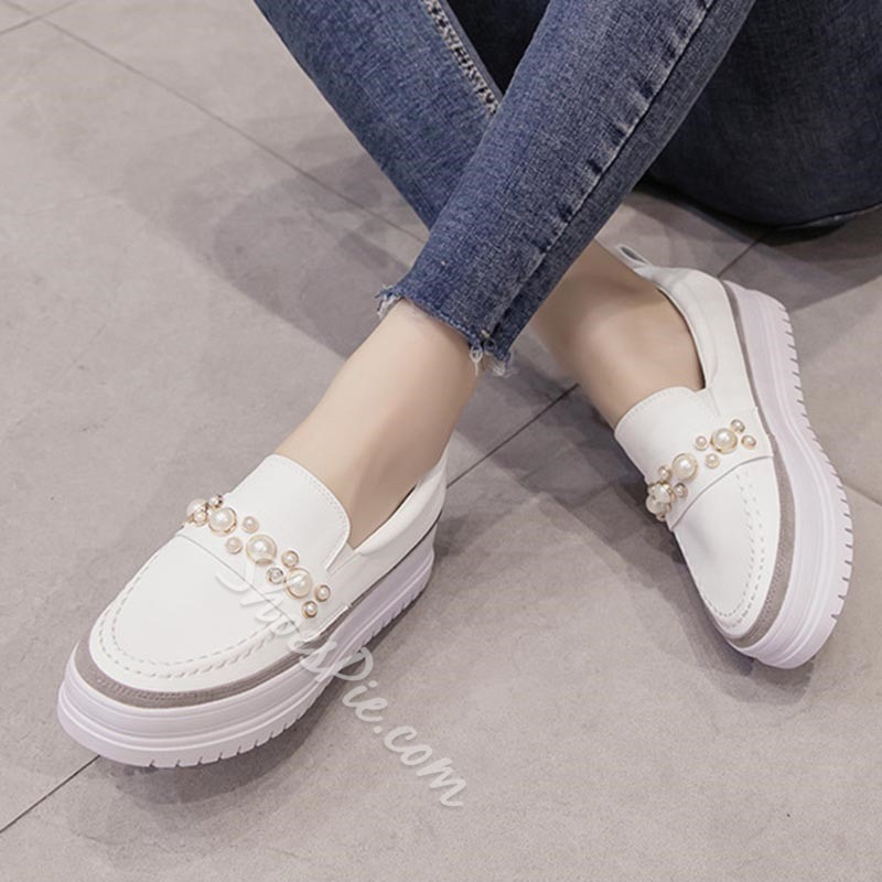 Beads Platform Women's Casual Shoes