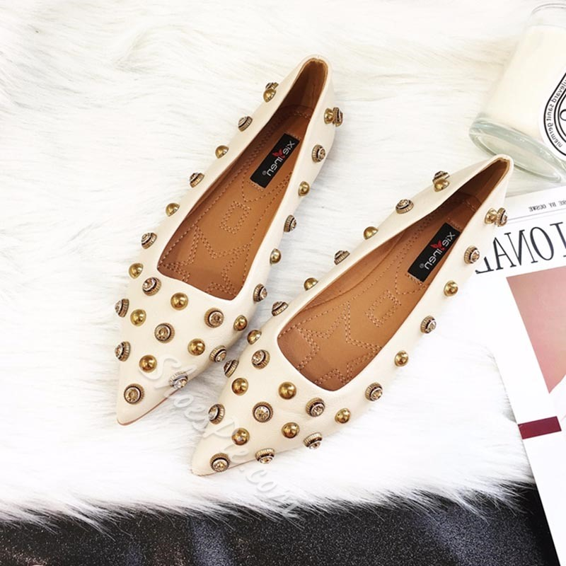 Rivet Pointed Toe Women's Casual Shoes