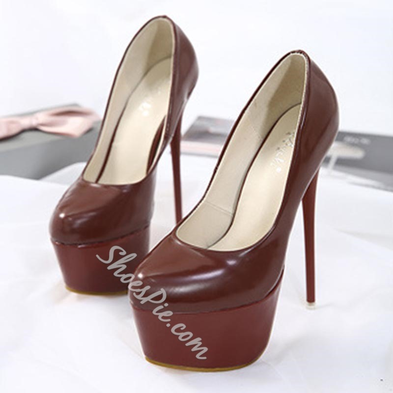 Color Block Platform Extreme High Stiletto Heels