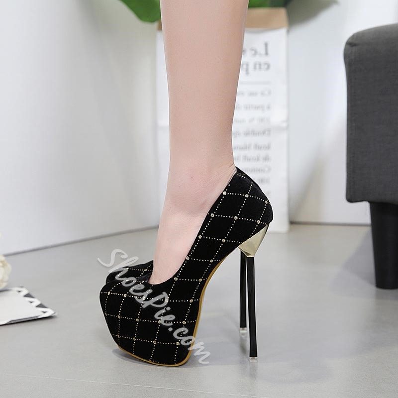 Plaid Platform Extreme High Stiletto Heels
