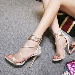 Open Toe Heel Covering Stiletto Heel Sandals