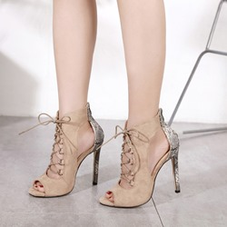 Cross Strap Hollow Women's Dress Sandals