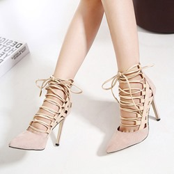 Cross Strap Plain Stiletto Heel Sandals