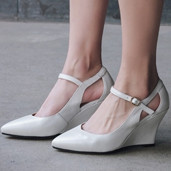 Solid Color Casual Wedge Heels