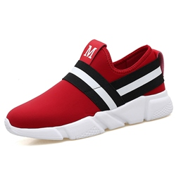 Casual Stripe Slip-On Men's Sneakers