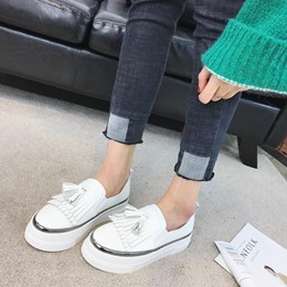 Fringe Platform Slip-On Women's Casual Shoes