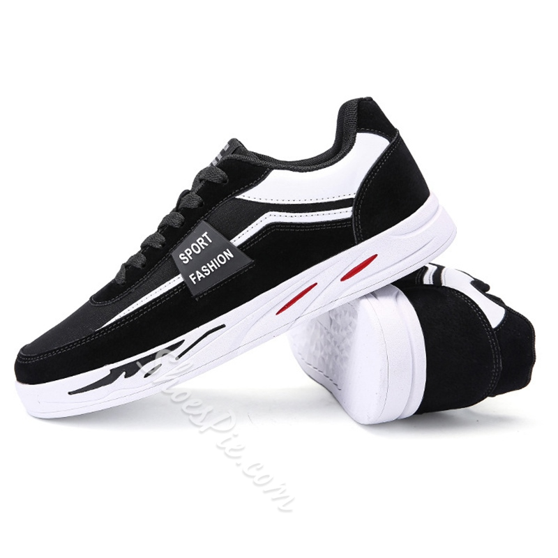 Round Toe Mesh Lace-Up Men's Sneakers