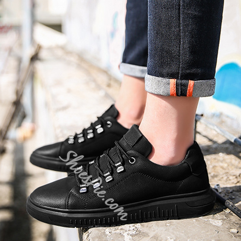 Casual Lace-Up Skate Men's Sneakers