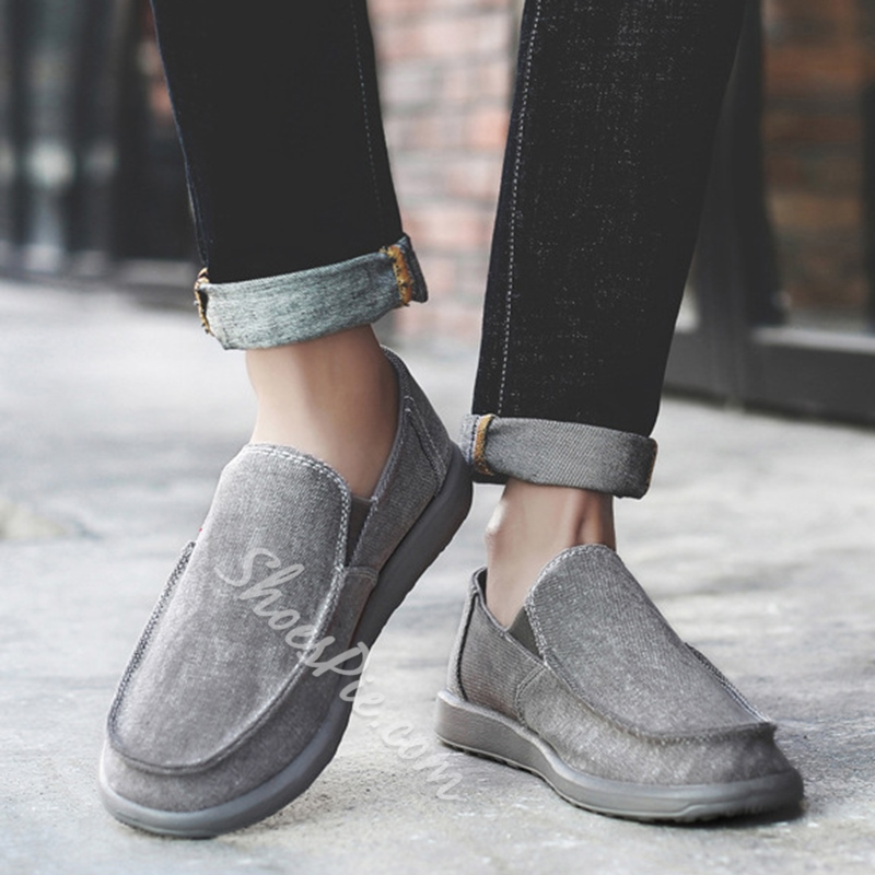 Casual Canvas Slip-On Men's Loafers