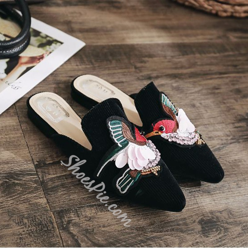 Embroidery Slip-On Women's Shoes