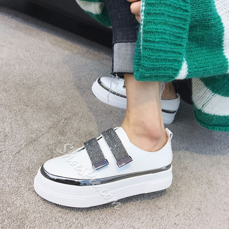 Rhinestone Platform Women's Casual Shoes