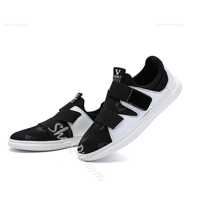 Casual Velcro Round Toe Men's Sneakers