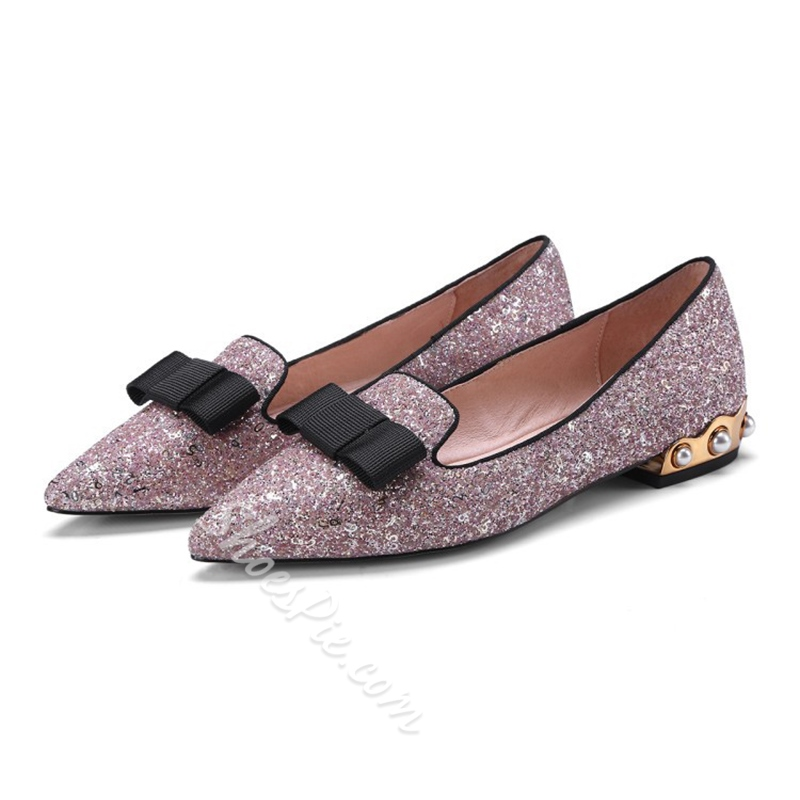 Sequin Bow Women's Casual Shoes