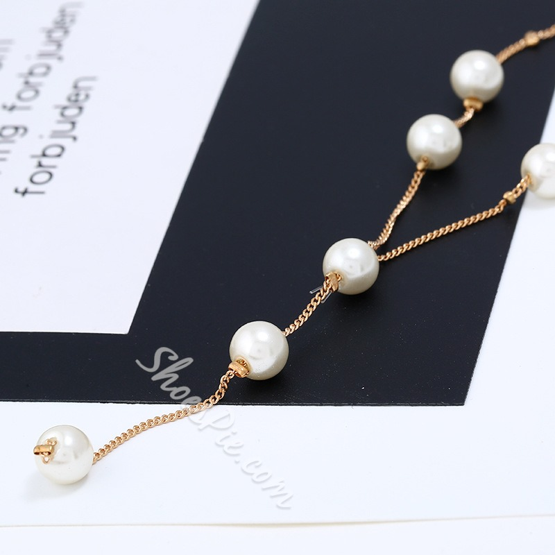 Elegant Pearl Beading 3 Piece Lady Jewelry Sets
