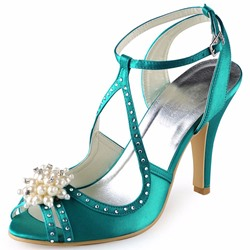 Shoespie Sexy Buckle Peep Toe Stiletto Heel Wedding Bridal Shoes
