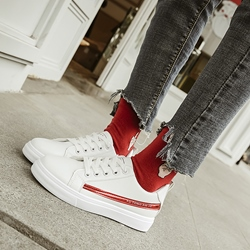 Color Block Round Toe Women's Sneakers