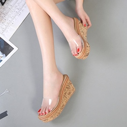 Flip Flop Jelly Wedge Heel Slip-On Sandals