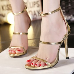 Banquet Open Toe Stiletto Heel Dress Sandals