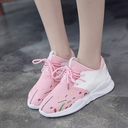 Print Platform Lace-Up Women's Sneakers