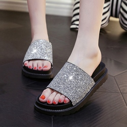 Sequin Slip-On Women's Sandals