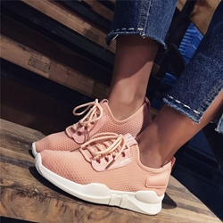 Plain Lace-Up Women's Shoes