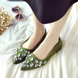 Rhinestone Slip-On Casual Women's Shoes