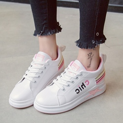 Letter Star Lace-Up Women's Casual Shoes