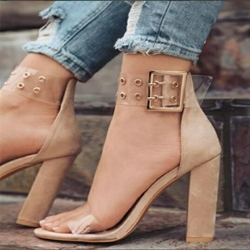 Heel Covering Chunky Heel Sandals