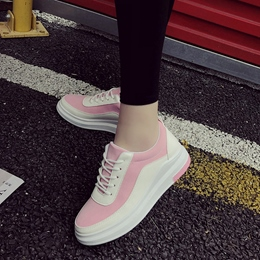 Color Block Round Toe Women's Casual Shoes
