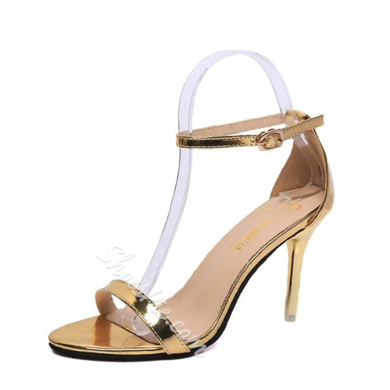 Simple Stiletto Heel Dress Sandals