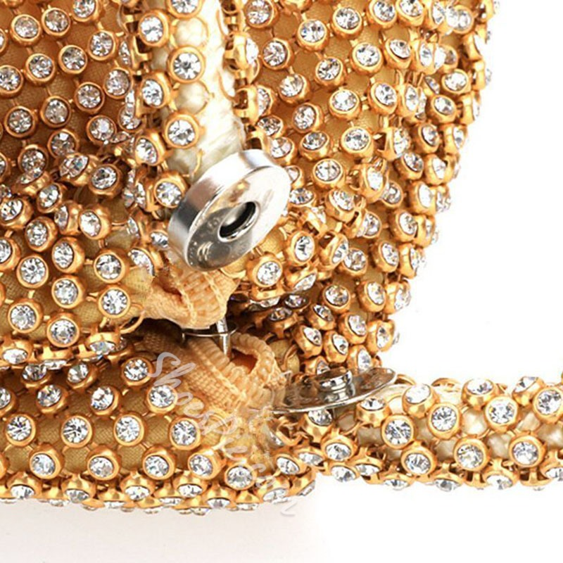 Shoespie Rhinestone Plain Clutch