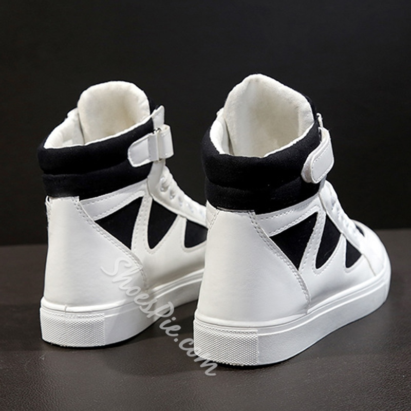 Cross Strap Round Toe Women's Sneakers