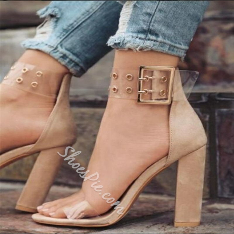 Jelly Heel Covering High Heel Sandals