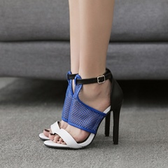 Open Toe Hollow Stiletto Heel Dress Sandals