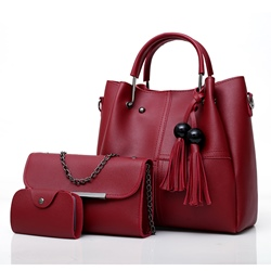 Shoespie Trendy Tassel Decoration Bag Set