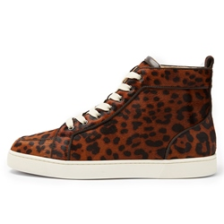 Casual Leopard Lace-Up Men's Sneakers