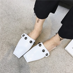 Plain Rivet Women's Mules