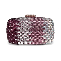 Shoespie Concise Rhinestone Chain Women Clutch