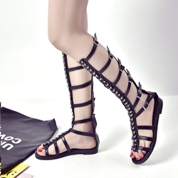 Fashion High Shaft Flat Sandals
