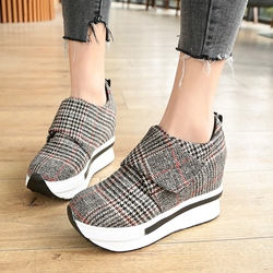 Platform Plaid Women's Sneakers