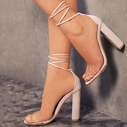 Elegent Chunky heel Lace-Up Dress Sandals